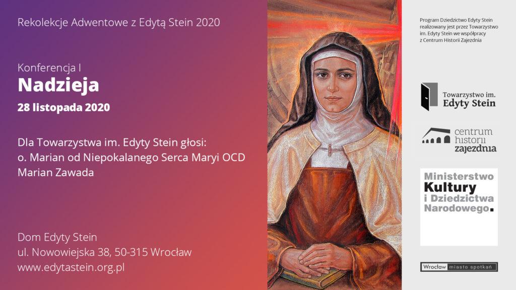 Rekolekcje Adwentowe zEdytą Stein 2020 (nagrania online)