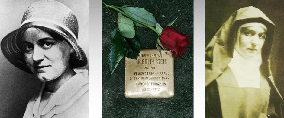 """Stolperstein – """"kamień pamięci"""" Edyty Stein"""