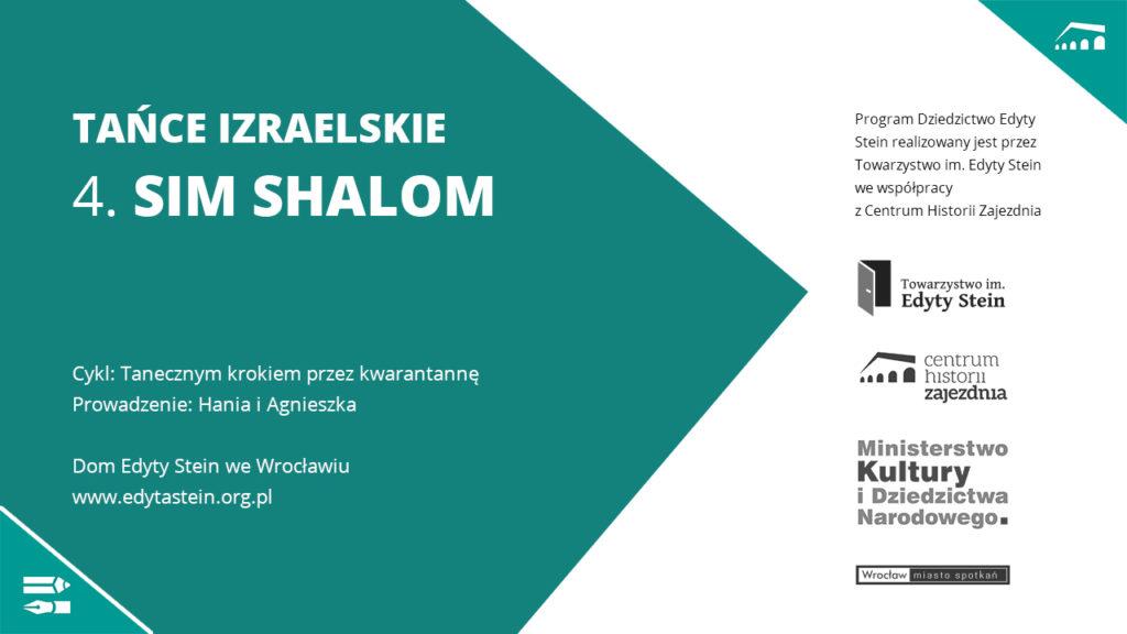 Tańce Izraelskie – kurs online – 4. SIM SHALOM