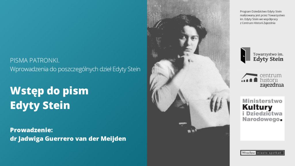 PISMA PATRONKI: WSTĘP DOPISM EDYTY STEIN – drJadwiga Guerrero van der Meijden (film)