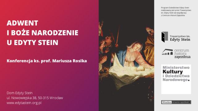 Adwent iBoże Narodzenie uEdyty Stein – ks.prof.Mariusz Rosik (film)